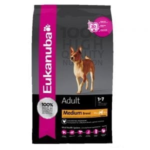 Eukanuba Adult Medium Breed z kurczakiem 15 kg