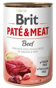 BRIT CARE PUSZKA 400G PATE&MEAT BEEF