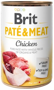 BRIT CARE PUSZKA 400G PATE&MEAT CHICKEN