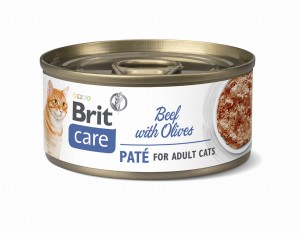 BRIT CARE CAT BEEF PATÉ WITH OLIVES 70 g
