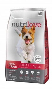 NUTRILOVE ADULT S small chicken 8 kg