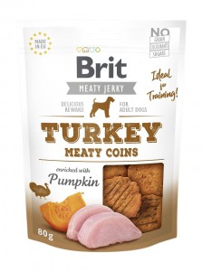 Brit Jerky Snack - Turkey Meaty Coins 80g