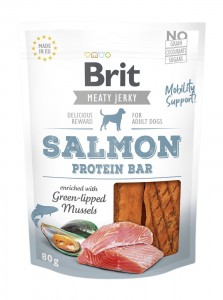 Brit Jerky Snack - Salmon Protein Bar 80g