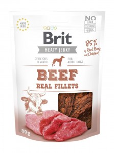 Brit Jerky Snack - Beef Fillets 80g