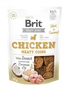 Brit Jerky Snack - Chicken Meaty Coins with Insect 80g