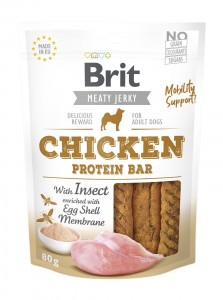 Brit Jerky Snack - Chicken Protein Bar with Insect 80g