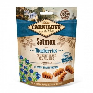CARNILOVE CRUNCHY SNACK SALMON BLUEBERRIES 200g