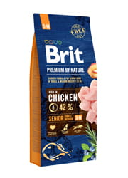 Brit Premium by nature SENIOR S / M 15 kg